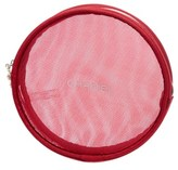 Chanel Red Round Cosmetic Bag, Never Carried.