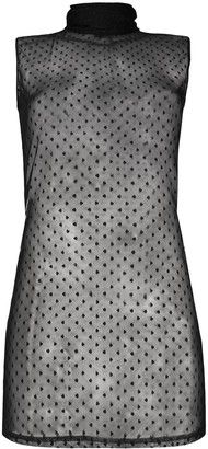 Styland Embroidered Mesh Tank Top