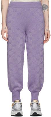 Gucci Purple Lurex Interlocking G Lounge Pants