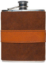 Moore & Giles Fine Leather-Wrapped Flask