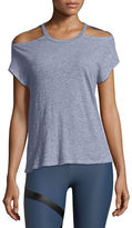 Lanston Cutout Short-Sleeve Heathered Tee