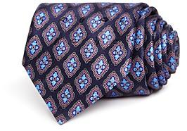 Ermenegildo Zegna Floret Medallion Silk Classic Tie