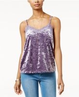 Hippie Rose Juniors' Velvet Lace-Trim Camisole