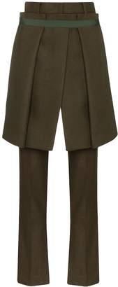 Sacai apron front trousers