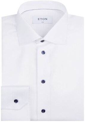 Eton Cotton Twill Contemporary Fit Shirt