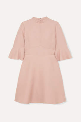 Valentino Wool And Silk-blend Cady Mini Dress - Pink