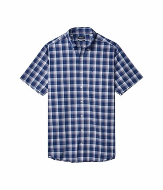 Nautica Big and Tall Men's Big & Tall Short Sleeve Wrinkle-Resistant Plaid Button-Down Shirt