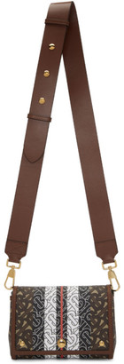 Burberry Brown E-Canvas Hackberry Monogram Shoulder Bag