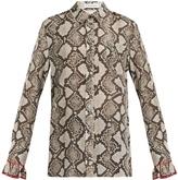 Altuzarra Clovis snake-print shirt