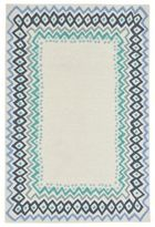 Liora Manné Capri Border 5-Foot x 7-Foot 6-Inch Indoor/Outdoor Area Rug in Blue