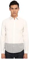 Vince Long Sleeve Melange Blocked Shirt