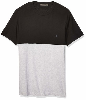 French Connection Men's Short Sleeve Crew Neck Printed Cotton T-Shirt