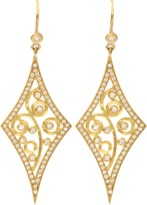 ANNIE FENSTERSTOCK Diamond Shape Earrings