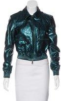 Burberry Metallic Leather Jacket