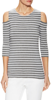 Bailey 44 Striped Deneuve Cut-Out Top