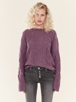 NSF Anabell Destructed Cable Knit Sweater