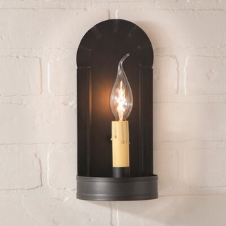 Gracie Oaks Vittorio 1-Light Candle Wall Light Finish: Kettle Black