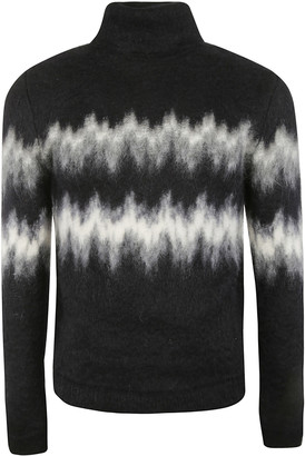 Saint Laurent Turtleneck Printed Sweater