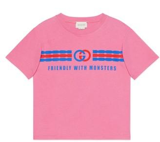 Gucci Children's hedgehog print cotton T-shirt