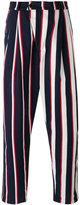 Henrik Vibskov striped loose fit trousers