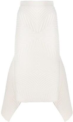 Alexander McQueen Asymmetric Knitted Skirt