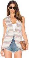 BCBGeneration Crochet Stripe Sleeveless Blazer