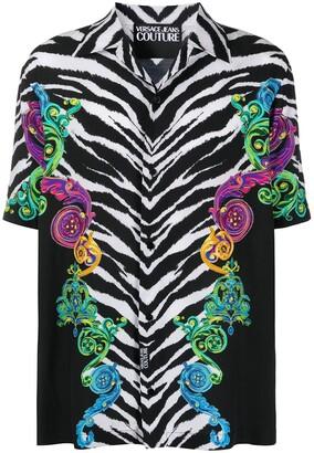 Versace Short Sleeve Tiger Stripes Shirt
