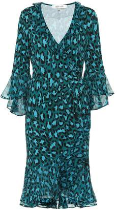 Diane von Furstenberg Carli leopard-print silk wrap dress