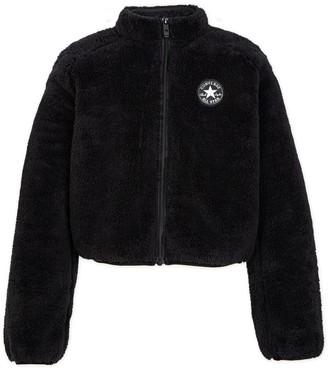 Converse Girls 7-16 Sherpa Cropped Jacket