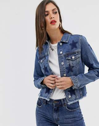 MBYM star denim jacket-Blue