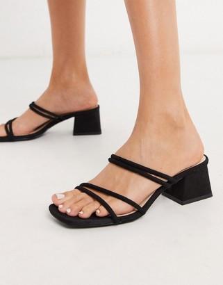 Raid Jaxson strappy mules sandals in black