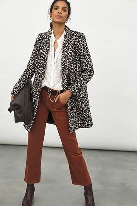 Gianna Longline Leopard Blazer