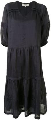 Sea Short-Sleeve Midi Dress