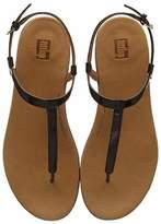 Women's TIA Sandal Patent PU Open Toe, Brown (Chocolate Brown Turtle 690), 41 EU