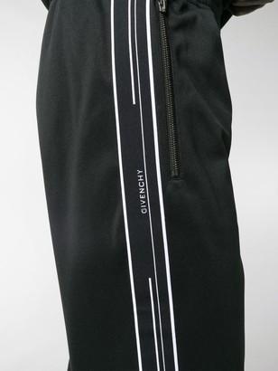 Givenchy Ticker logo tape track pants