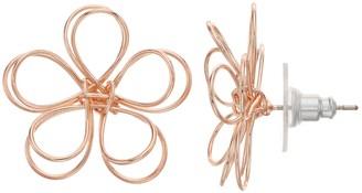 Lauren Conrad Nickel Free Openwork Floral Stud Earrings