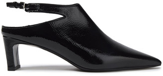 McQ Crinkled Patent-leather Slingback Pumps