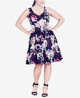 City Chic Trendy Plus Size Fit & Flare Dress