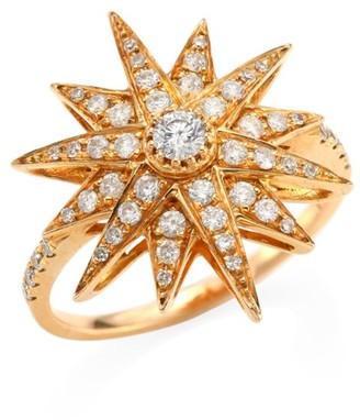 Shay Diamond & 18K Rose Gold Starbust Ring