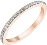 Evoke Rose Gold-Plated Swarovski Crystal Set Ring
