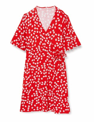 Amazon Essentials Women's Kimono Sleeve Wrap Dress