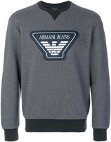 Armani Jeans logo patch sweatshirt