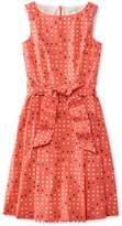 L.L. Bean L.L.Bean The Signature Poplin Dress, Reef Coral Dot