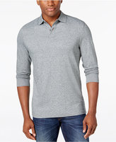 Tasso Elba Men's Big and Tall Long-Sleeve Marl Polo, Only at Macy's
