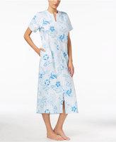 Miss Elaine Floral-Print Zip-Front Robe