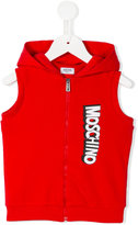 Moschino Kids - sleeveless hoodie - kids - Cotton/Spandex/Elastane - 2 yrs