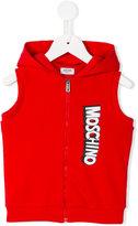 Moschino Kids sleeveless hoodie