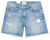 Current/Elliott 'The Boyfriend' distressed rolled denim shorts