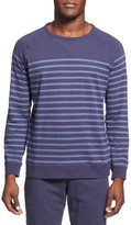 Daniel Buchler Long Sleeve Slub Cotton T-Shirt