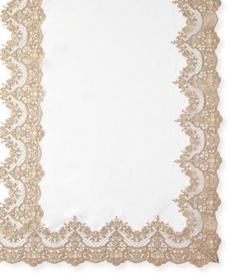 "Sferra Antique Lace 72"" x 126"" Tablecloth & 12 Napkins"